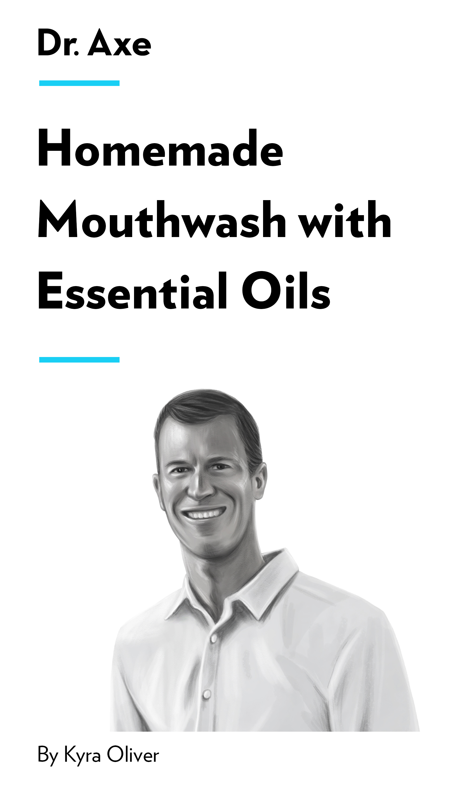 """Book Cover for """"Homemade Mouthwash with Essential Oils"""""""