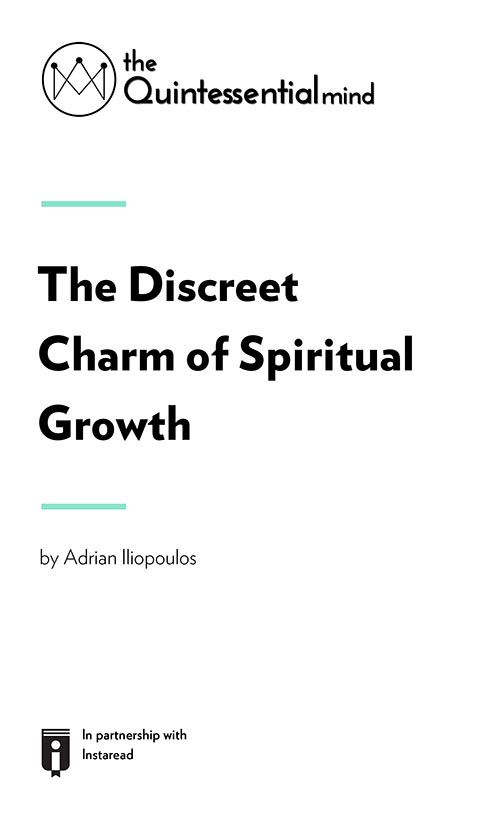 "Book Cover for ""The Discreet Charm of Spiritual Growth"""