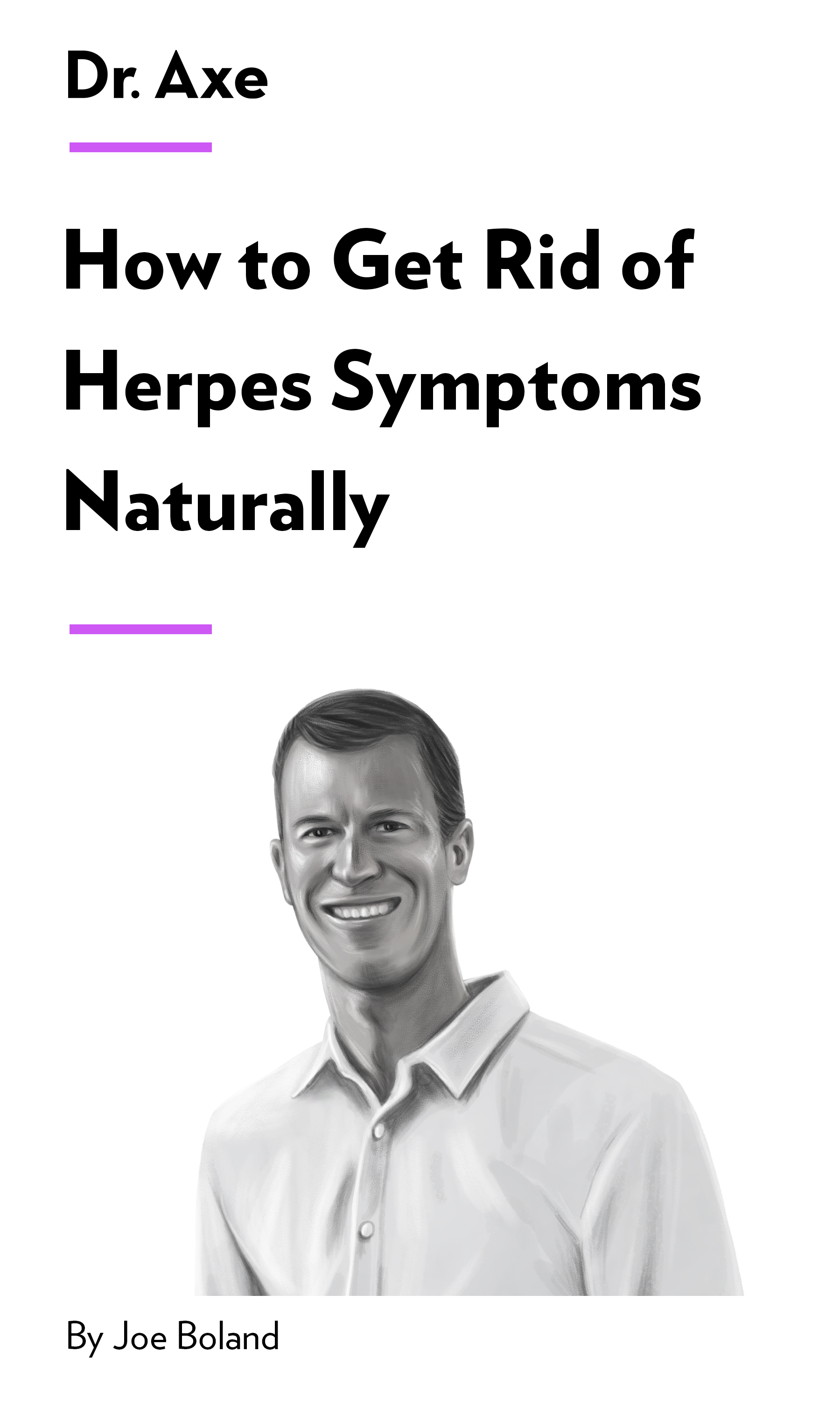 """Book Cover for """"How to Get Rid of Herpes Symptoms Naturally"""""""