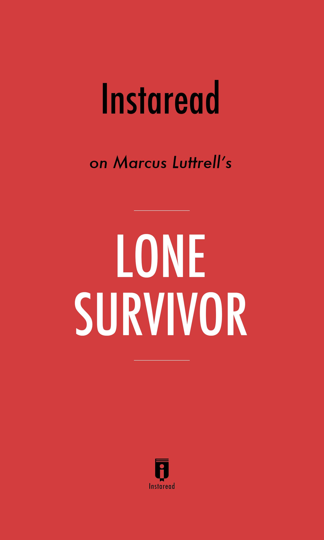 """Book Cover for """"Lone Survivor"""""""
