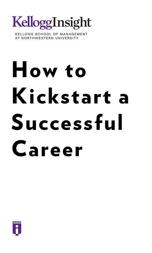 "Book Cover for ""How to Kickstart a Successful Career"""