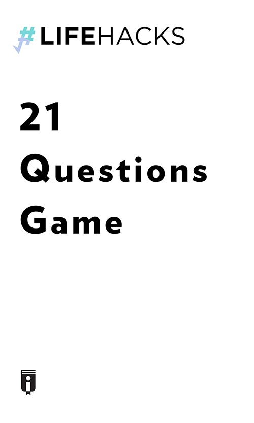 "Book Cover for ""21 Questions Game"""