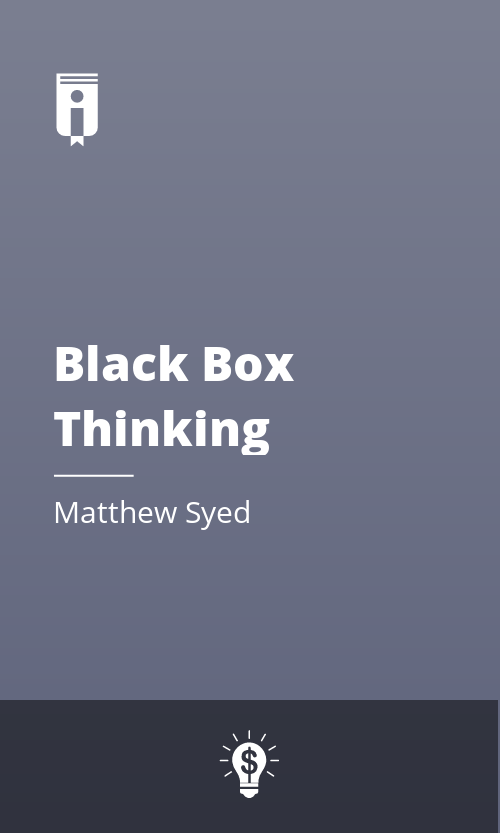 """Book Cover for """"Black Box Thinking"""""""