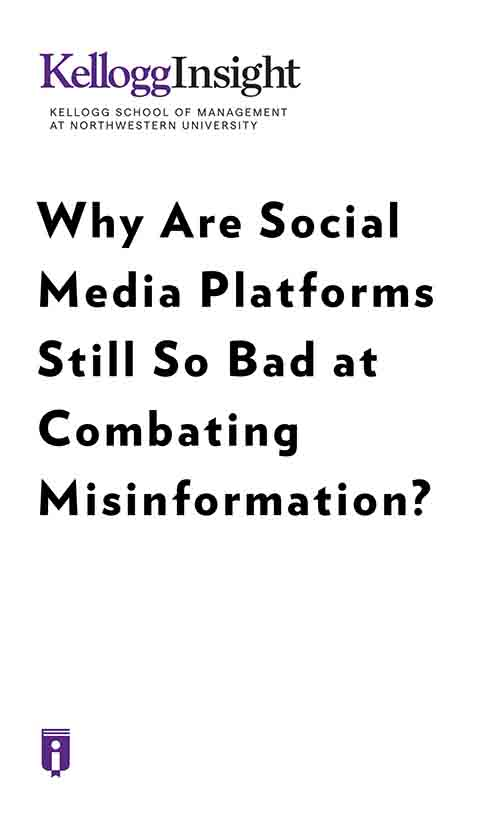 "Book Cover for ""Why Are Social Media Platforms Still So Bad at Combating Misinformation?"""