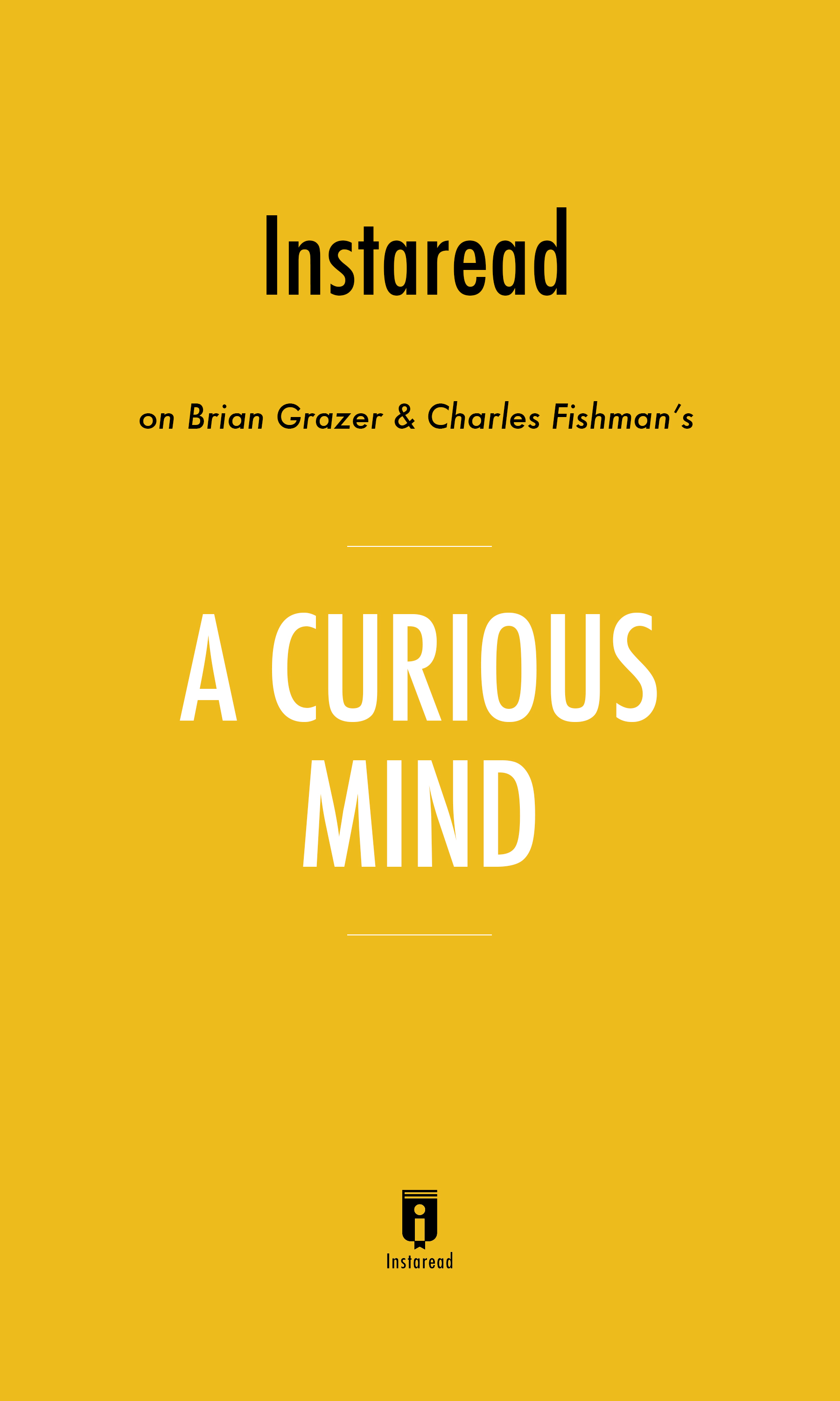 """Book Cover for """"A Curious Mind"""""""