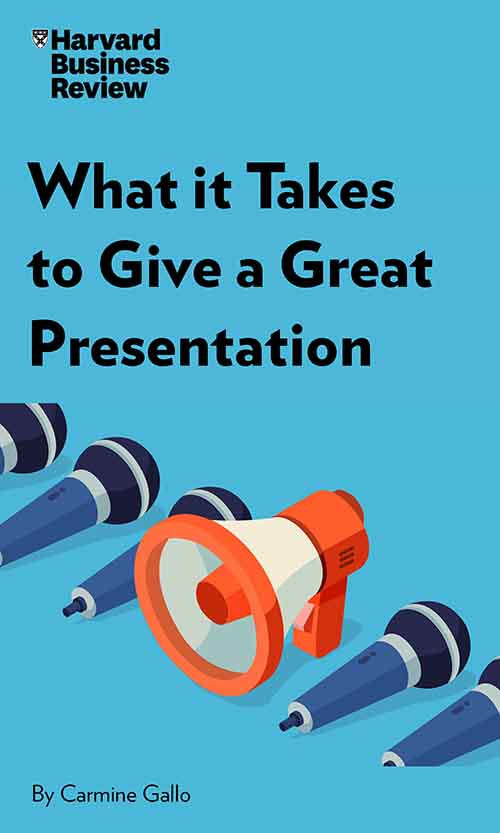 "Book Cover for ""What It Takes to Give a Great Presentation"""
