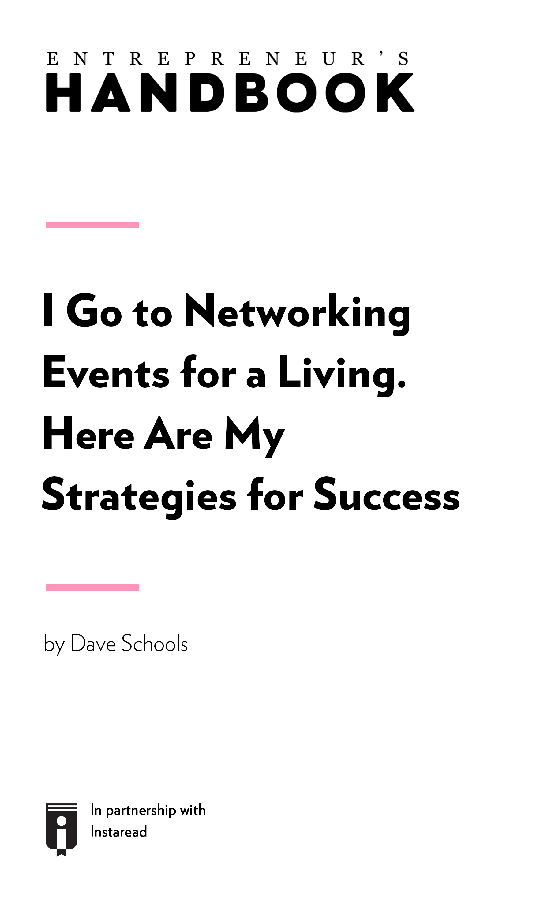 "Book Cover for ""I Go to Networking Events for a Living. Here Are My Strategies for Success."""