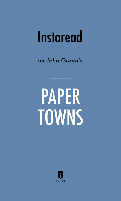 "Book Cover for ""Paper Towns"""