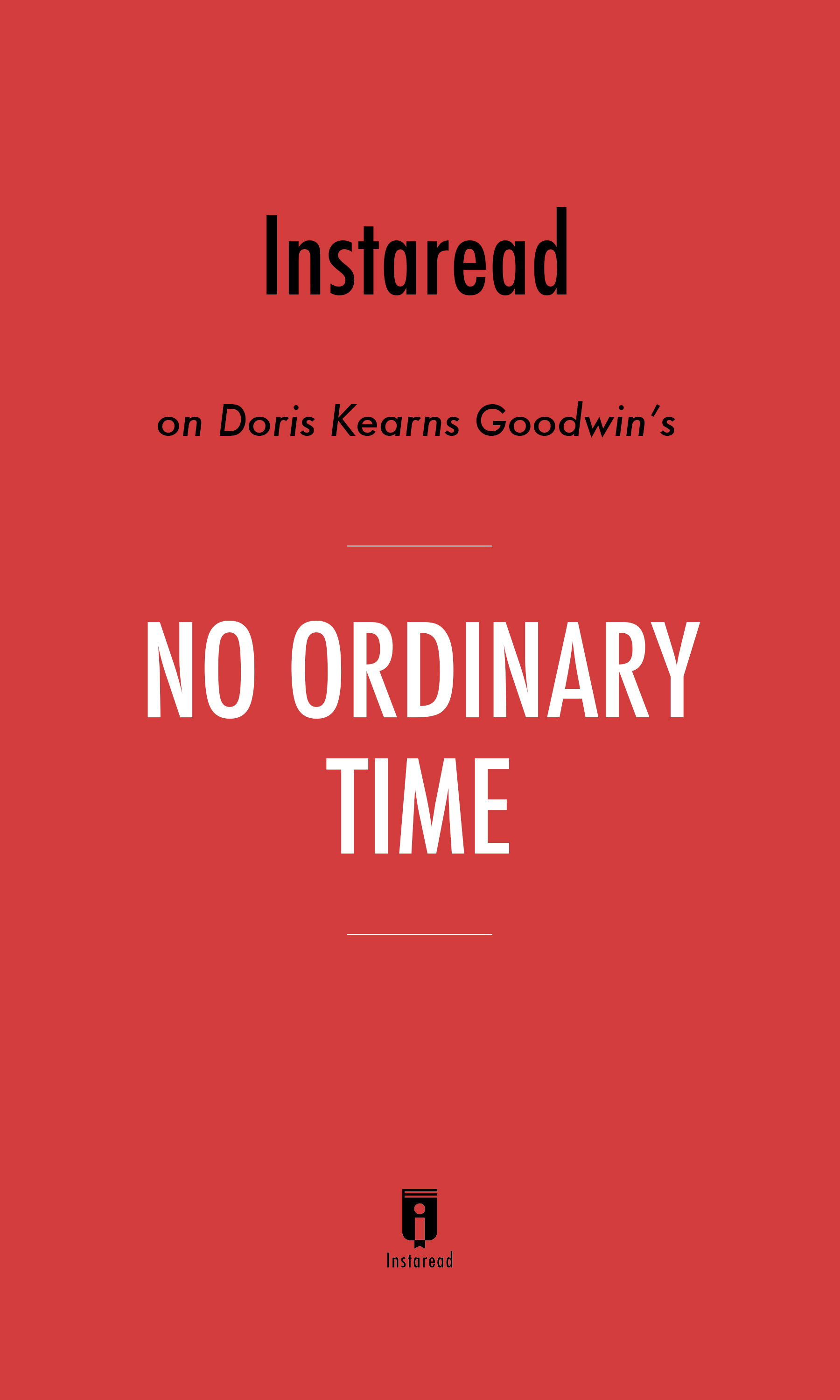 """Book Cover for """"No Ordinary Time"""""""