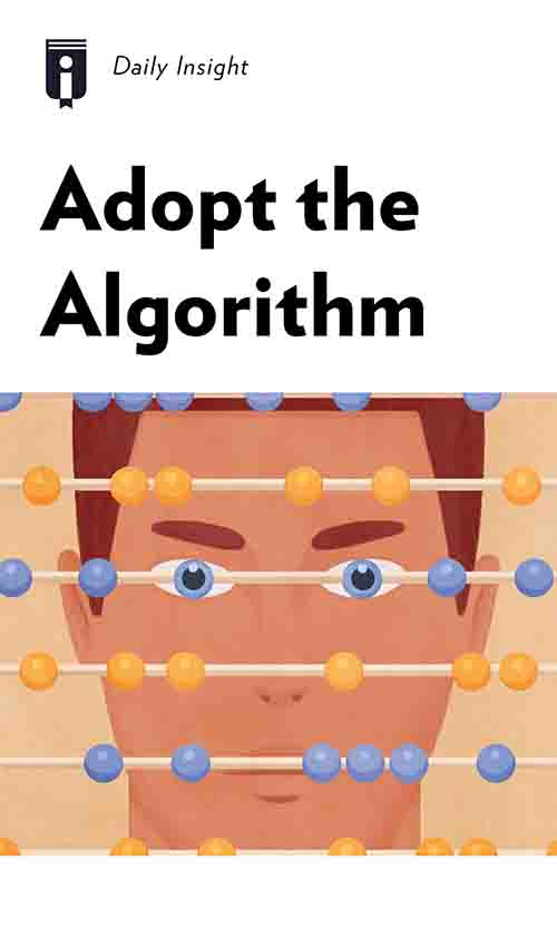 """Book Cover for """"Adopt the Algorithm"""""""