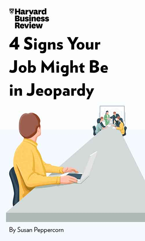 "Book Cover for ""4 Signs Your Job Might Be in Jeopardy"""