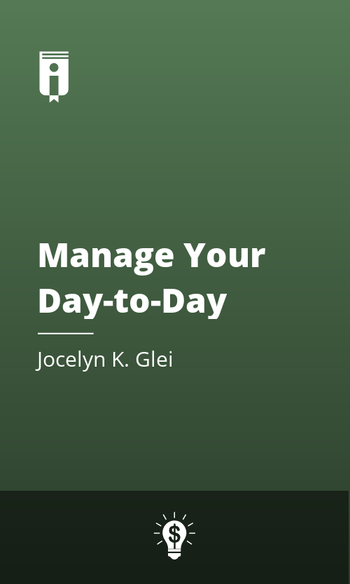 """Book Cover for """"Manage Your Day-to-Day"""""""