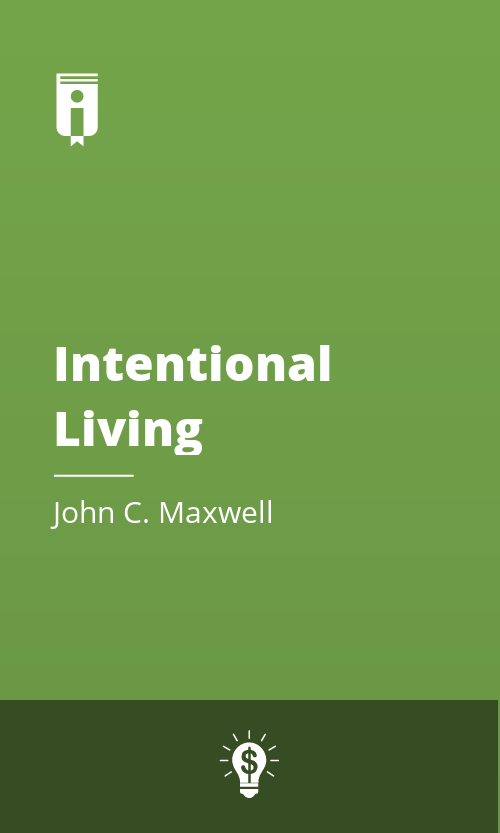 """Book Cover for """"Intentional Living"""""""