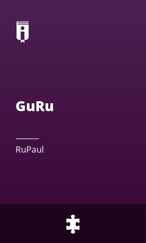 """Book Cover for """"GuRu"""""""