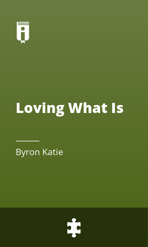 "Book Cover for ""Loving What Is"""
