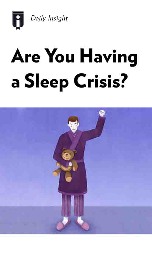 "Book Cover for ""Are You Having a Sleep Crisis?"""