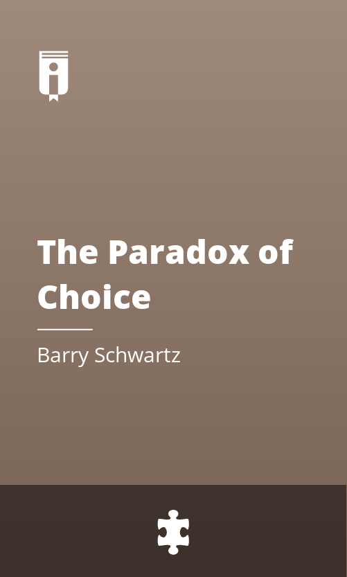 "Book Cover for ""The Paradox of Choice"""