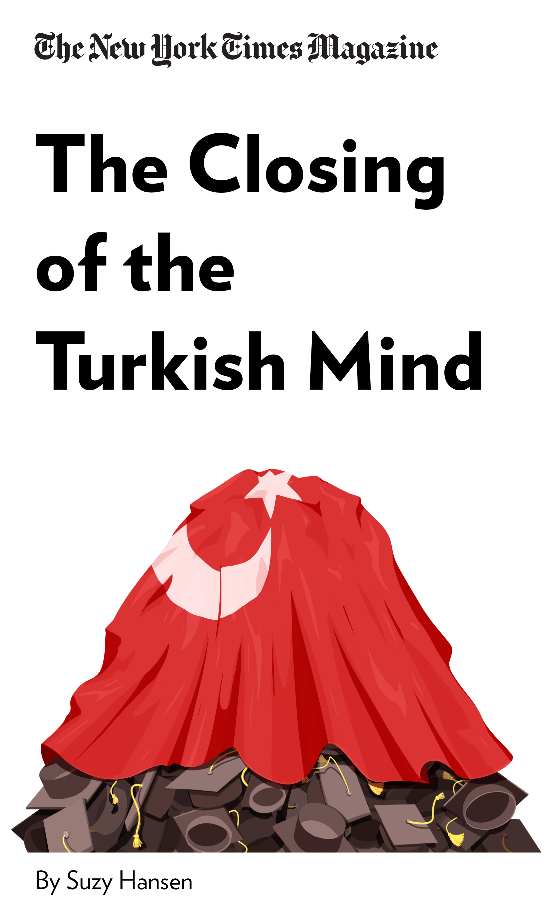 """Book Cover for """"The Closing of the Turkish Mind"""""""
