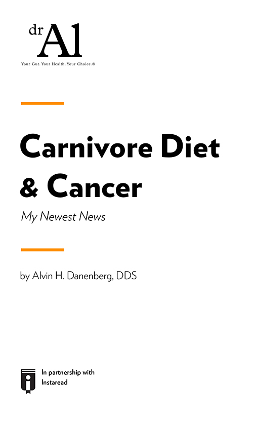 "Book Cover for ""Carnivore Diet & Cancer - My Newest News"""