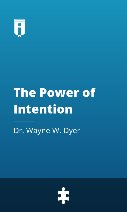 """Book Cover for """"The Power of Intention"""""""