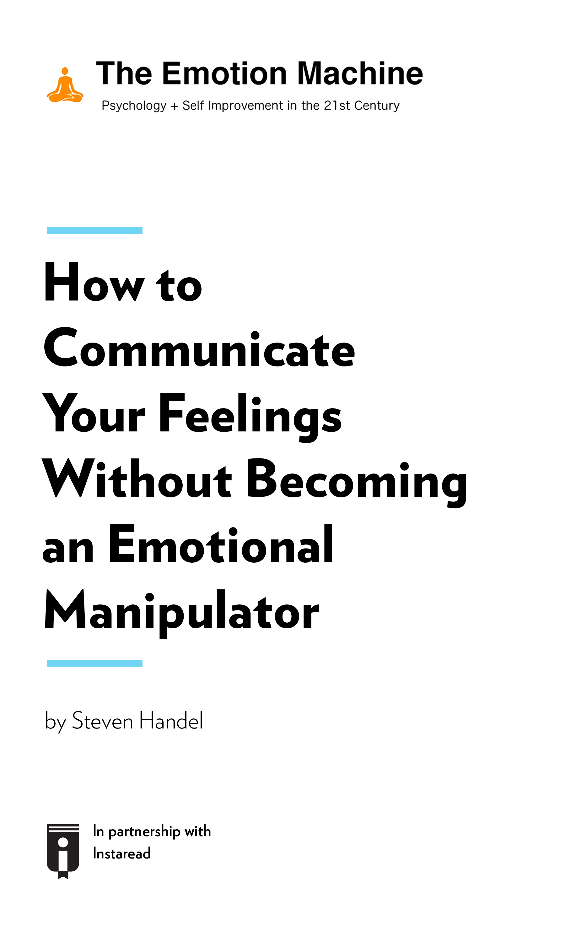 """Book Cover for """"How to Communicate Your Feelings Without Becoming an Emotional Manipulator"""""""
