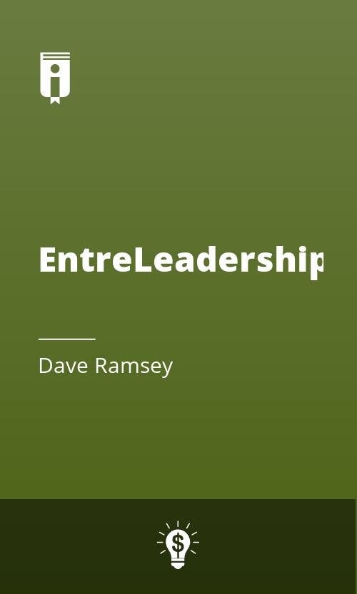 "Book Cover for ""EntreLeadership"""