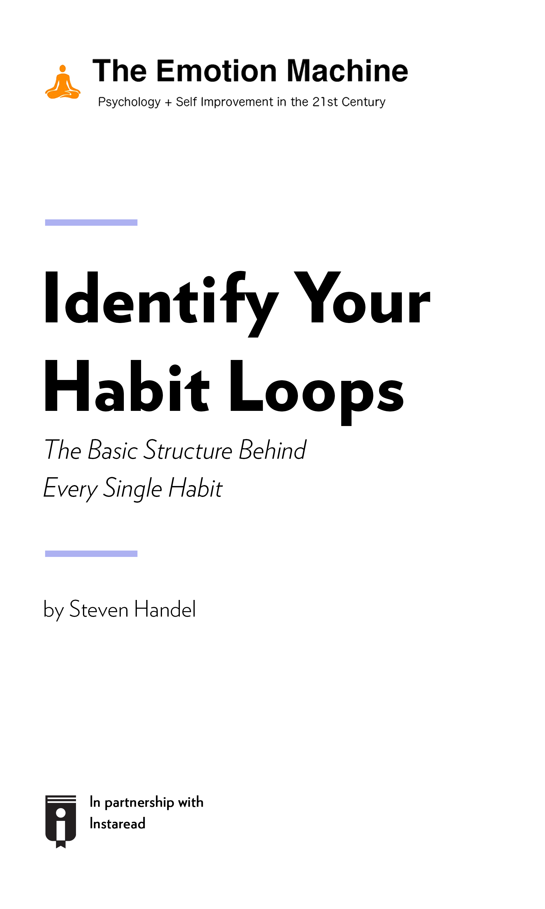"""Book Cover for """"Identify Your Habit Loops: The Basic Structure Behind Every Single Habit"""""""