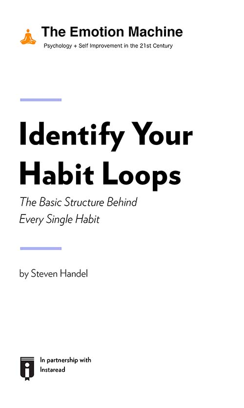 "Book Cover for ""Identify Your Habit Loops: The Basic Structure Behind Every Single Habit"""