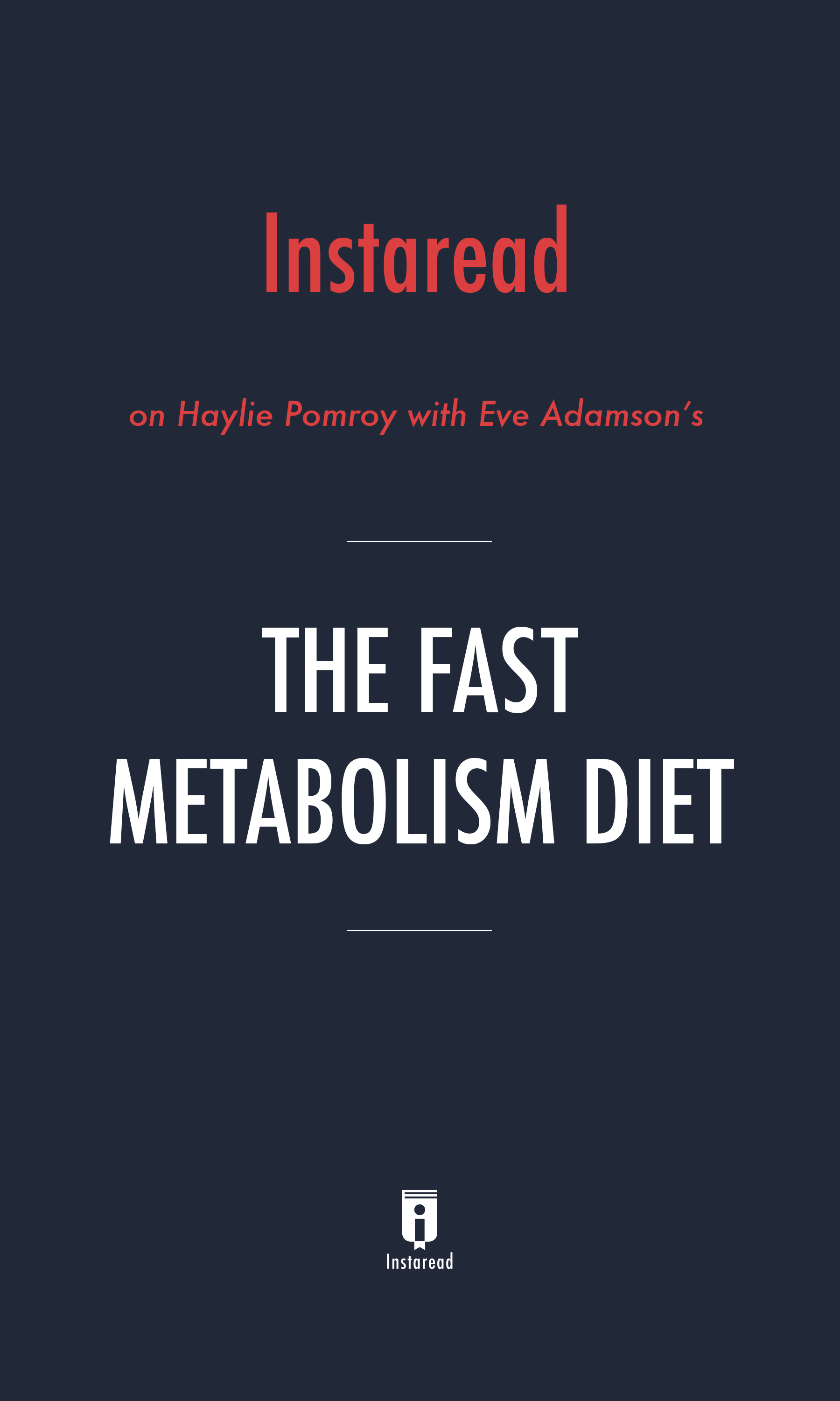"Book Cover for ""The Fast Metabolism Diet"""