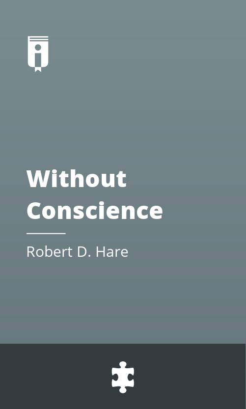 """Book Cover for """"Without Conscience"""""""