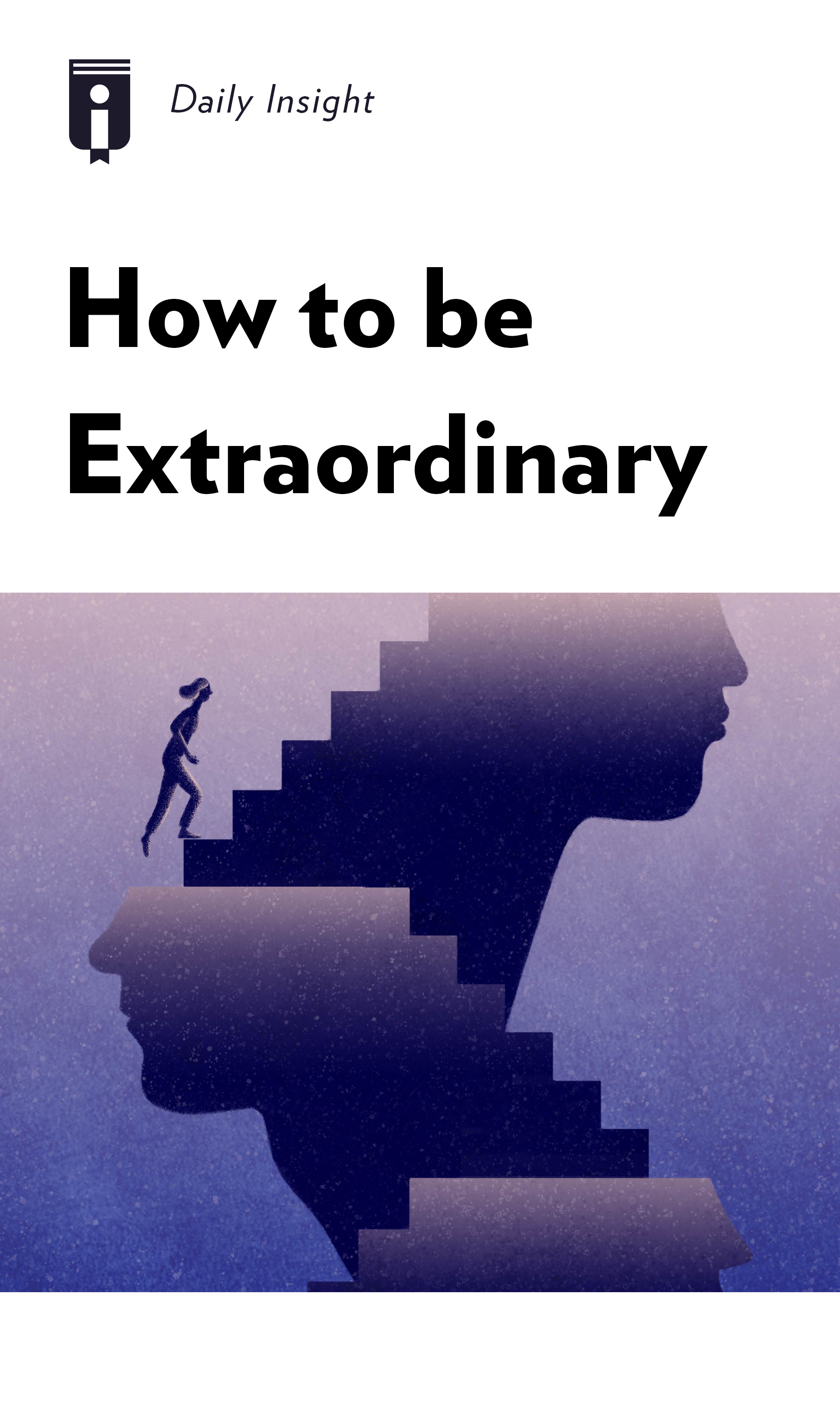 """Book Cover for """"How to be Extraordinary"""""""