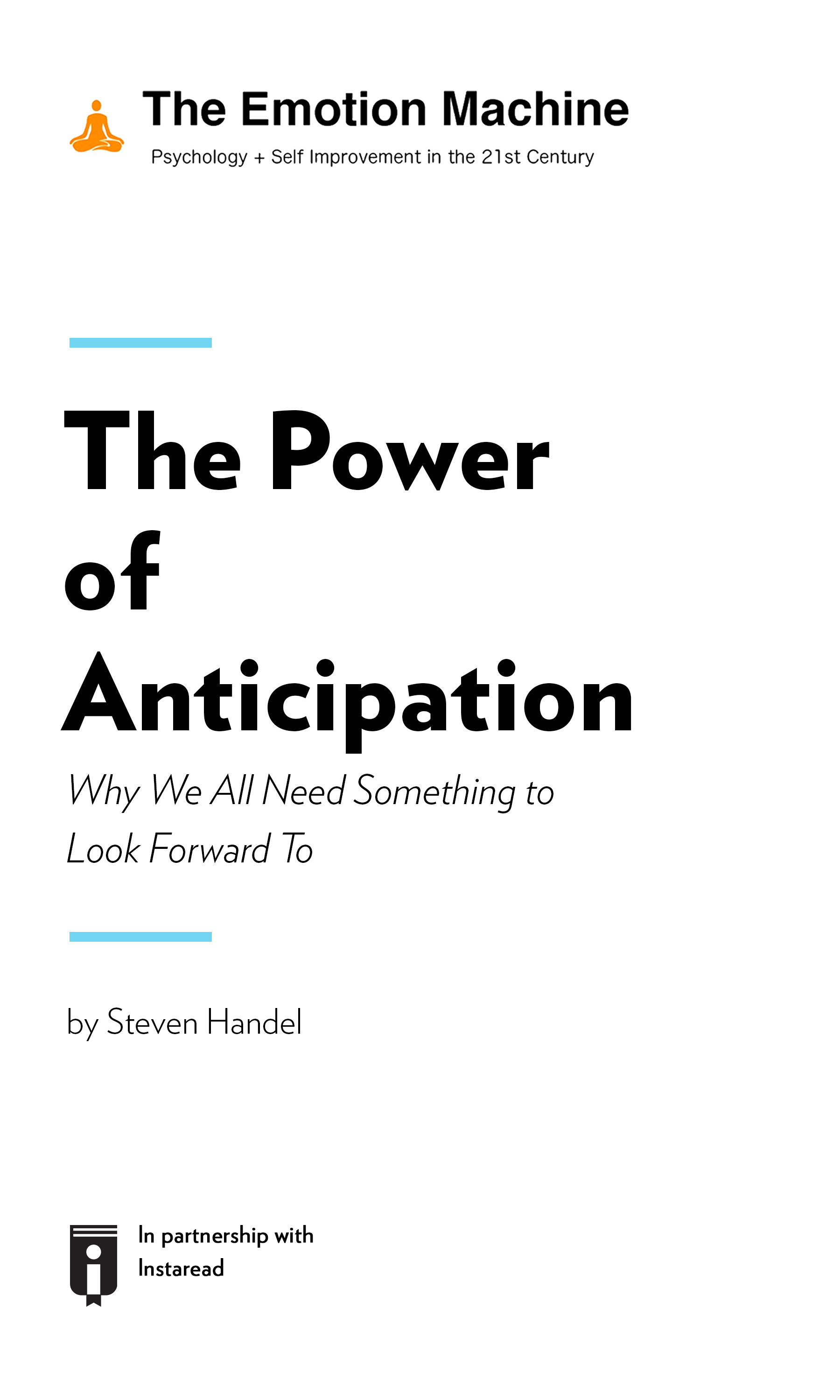 """Book Cover for """"The Power of Anticipation: Why We All Need Something to Look Forward To"""""""