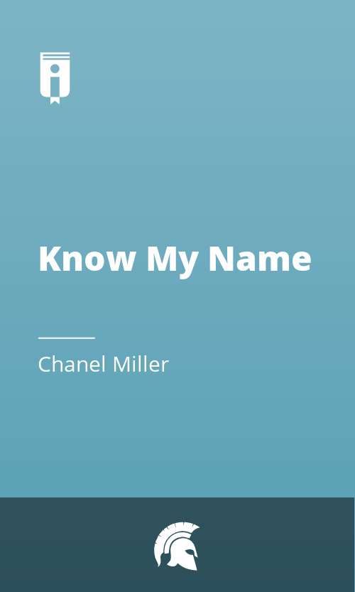 """Book Cover for """"Know My Name"""""""