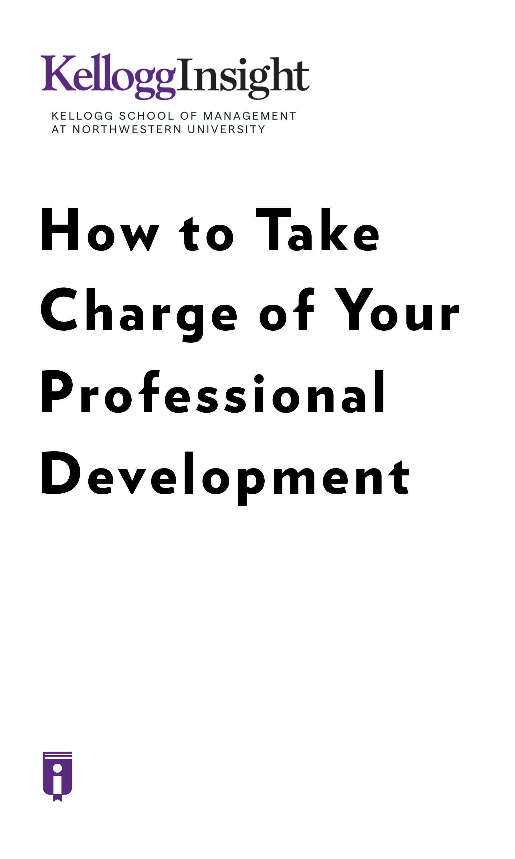 """Book Cover for """"How to Take Charge of Your Professional Development"""""""