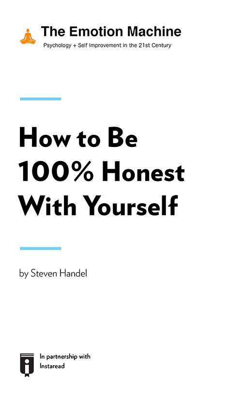 "Book Cover for ""How to Be 100% Honest With Yourself"""