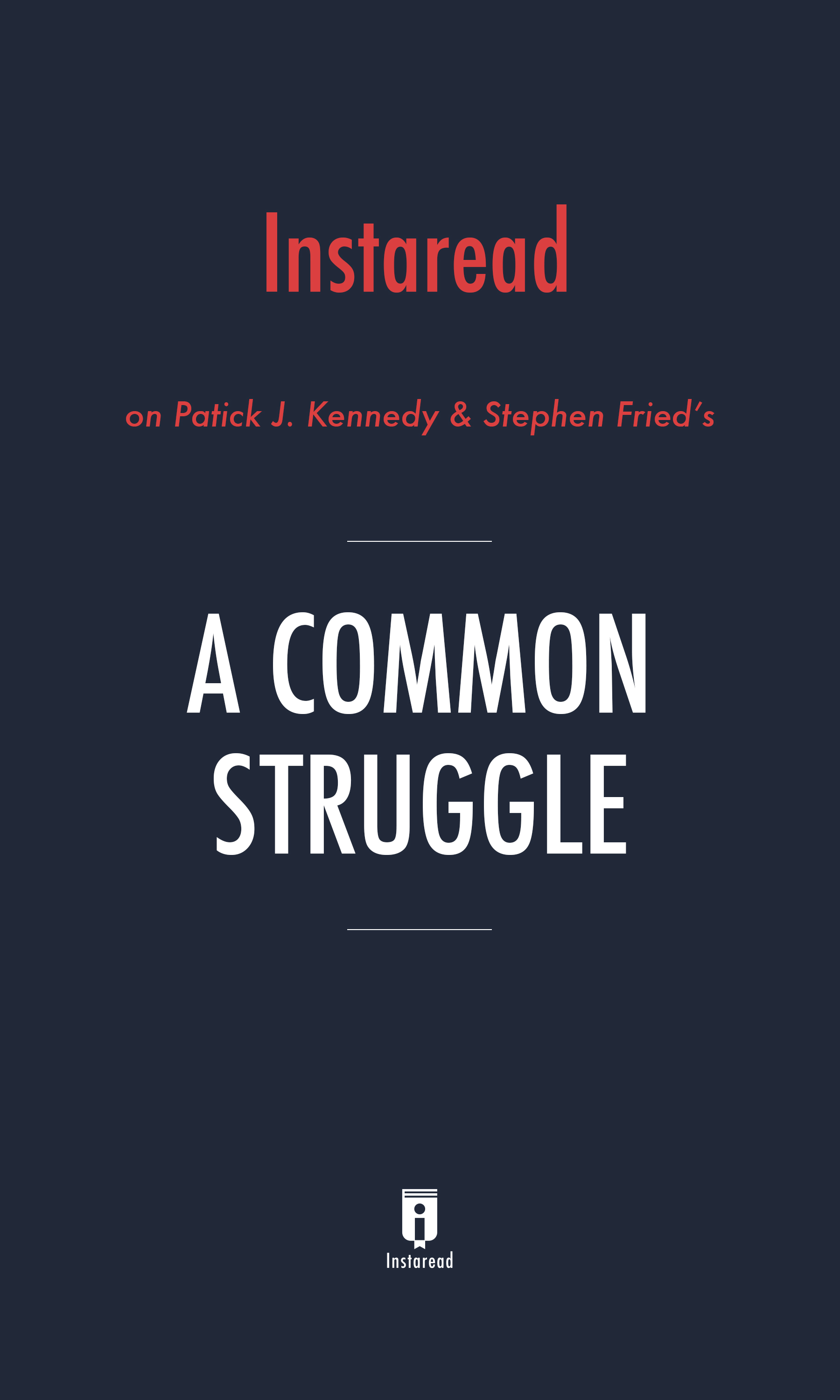 "Book Cover for ""A Common Struggle"""