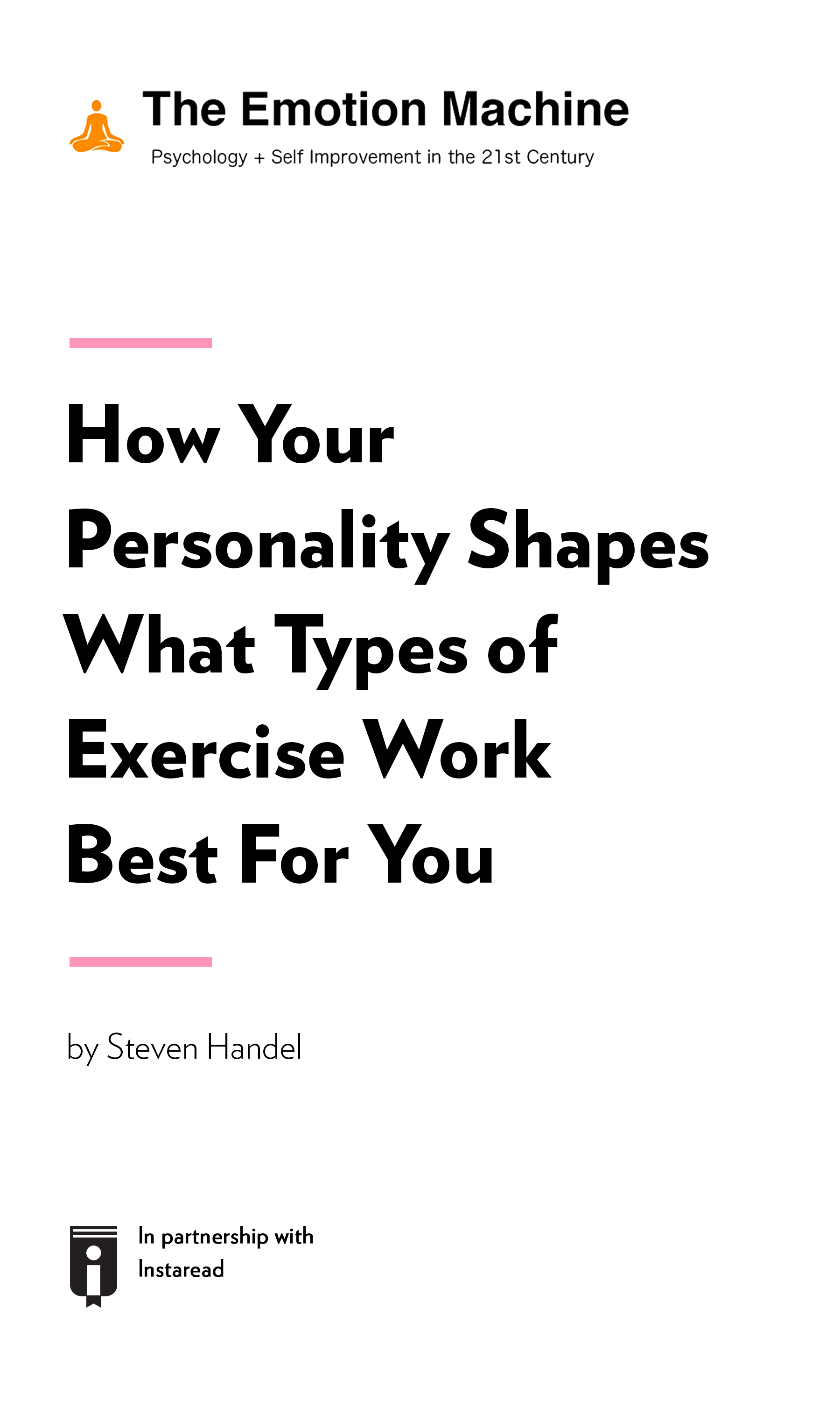 """Book Cover for """"How Your Personality Shapes What Types of Exercise Work Best For You"""""""