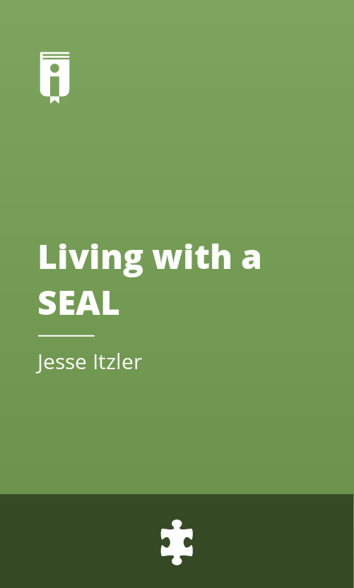 """Book Cover for """"Living with a SEAL"""""""