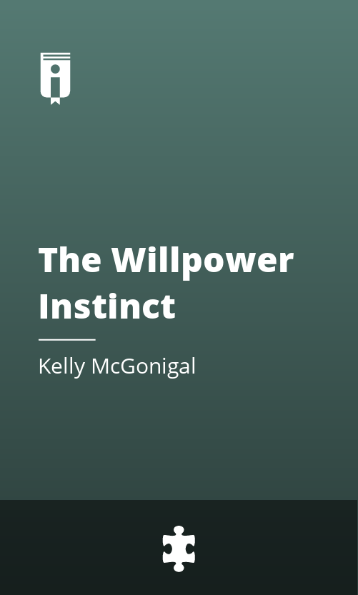 """Book Cover for """"The Willpower Instinct"""""""