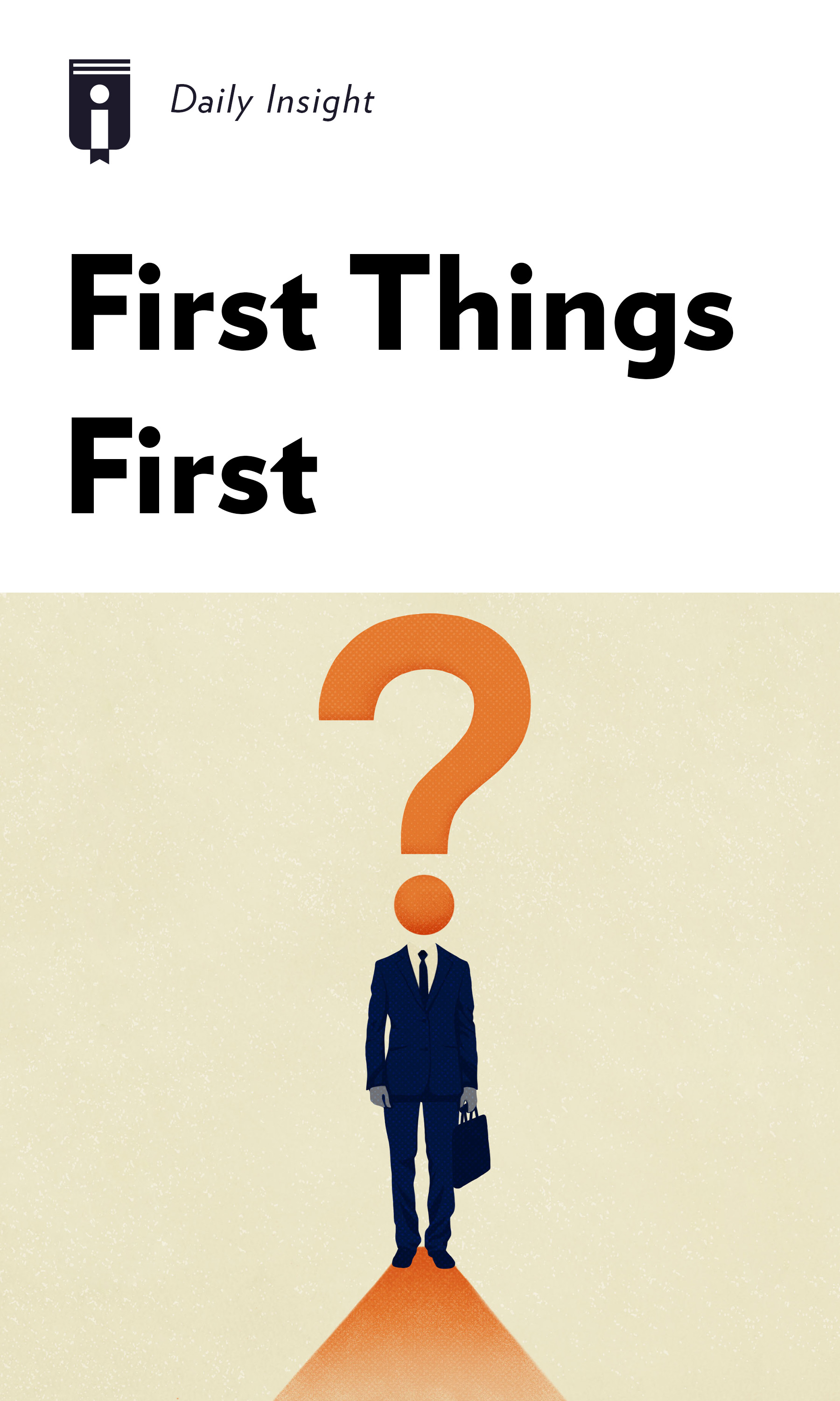 """Book Cover for """"First Things First"""""""