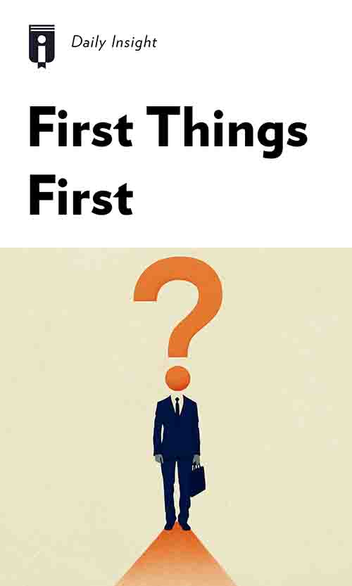 "Book Cover for ""First Things First"""