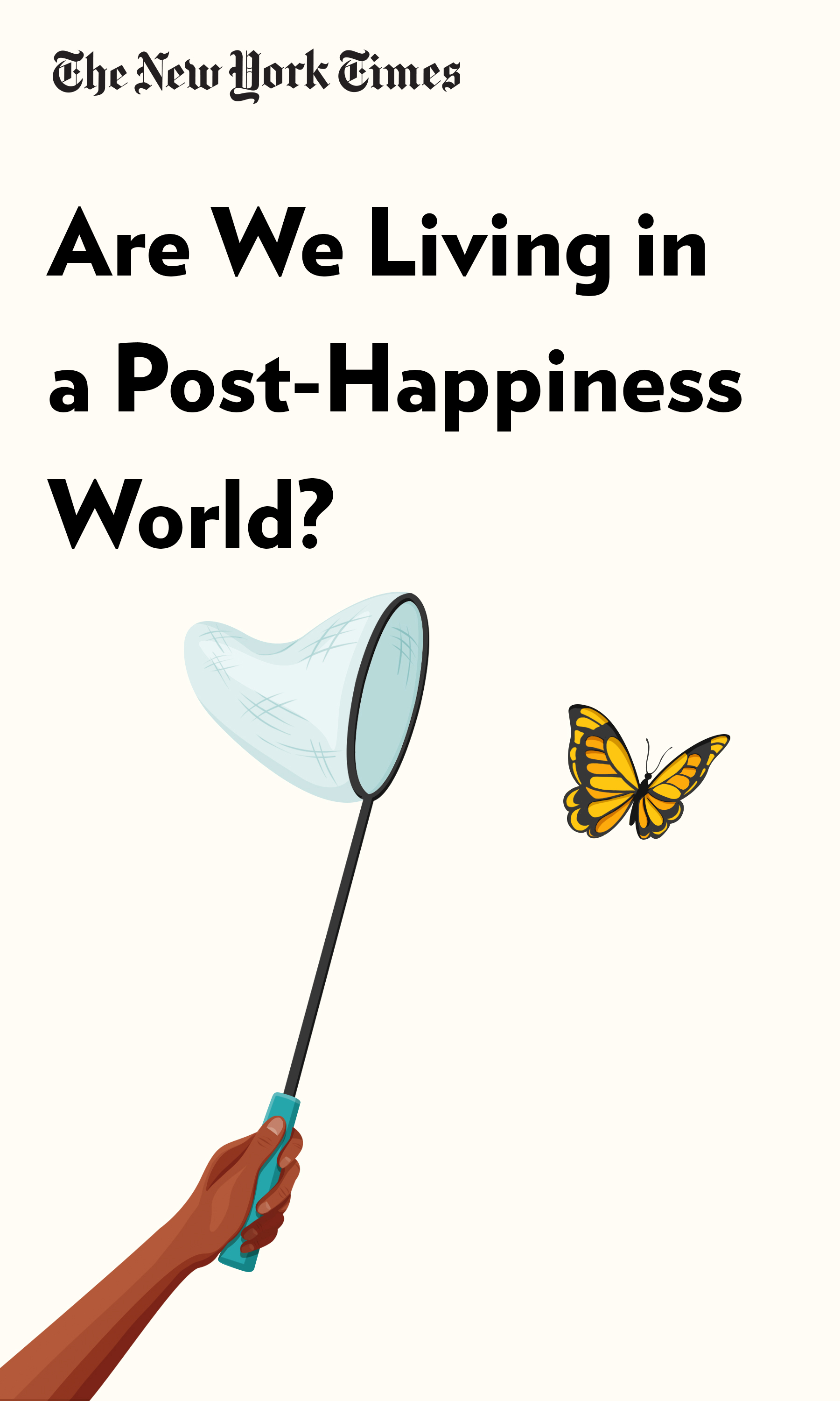 "Book Cover for ""Are We Living in a Post-Happiness World?"""