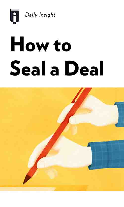 "Book Cover for ""How to Seal a Deal"""