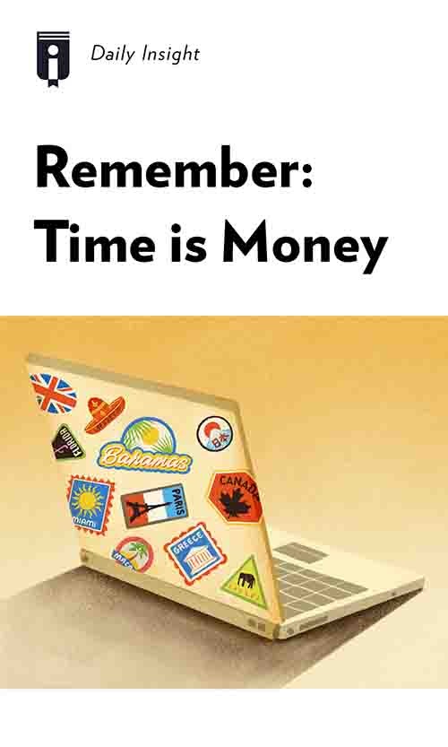 "Book Cover for ""Remember: Time is Money"""