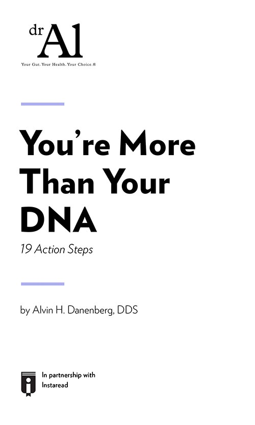 "Book Cover for ""You're More Than Your DNA – 19 Action Steps"""