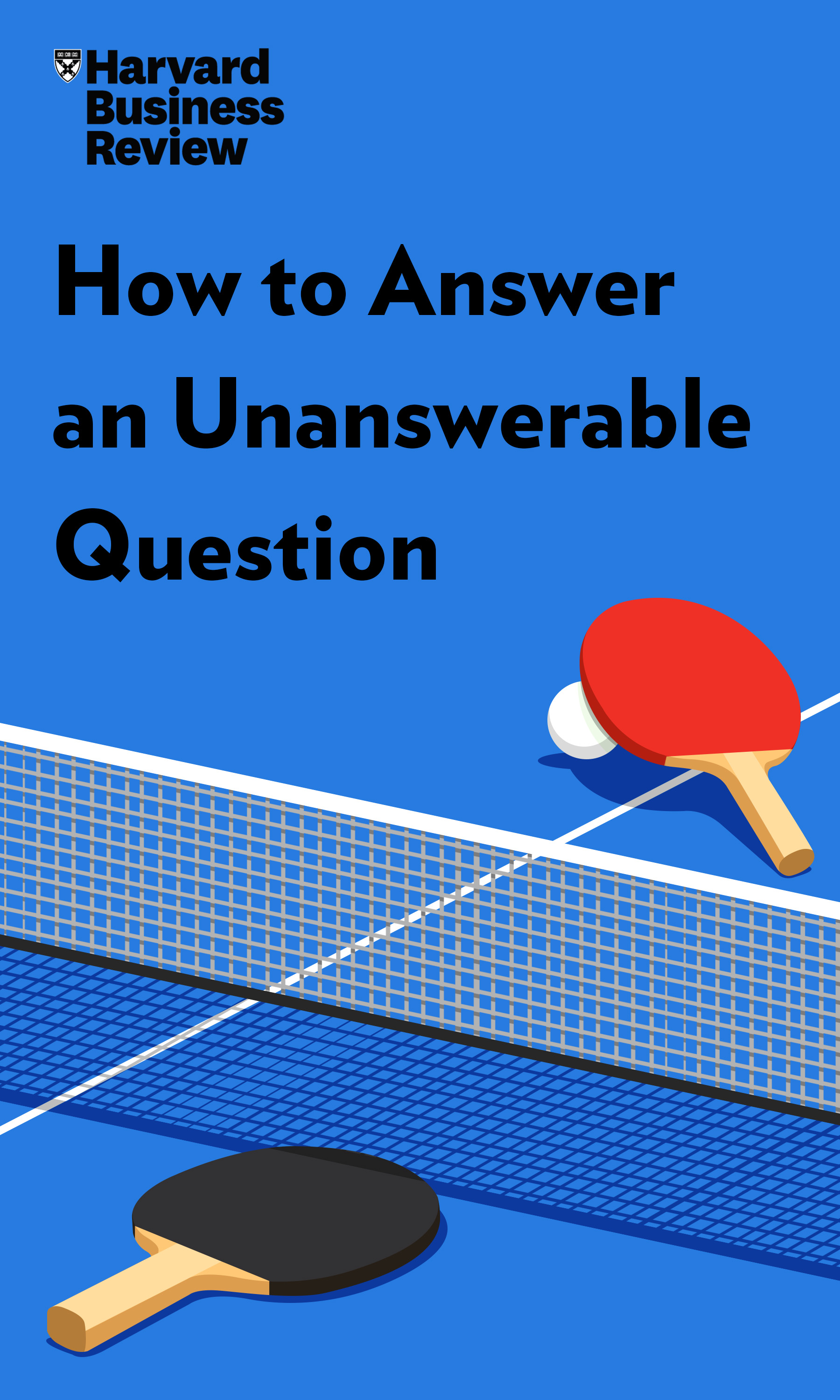 "Book Cover for ""How to Answer an Unanswerable Question"""