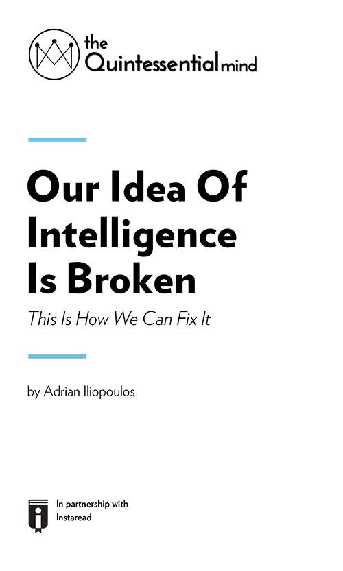 "Book Cover for ""Our Idea Of Intelligence Is Broken. This Is How We Can Fix It"""