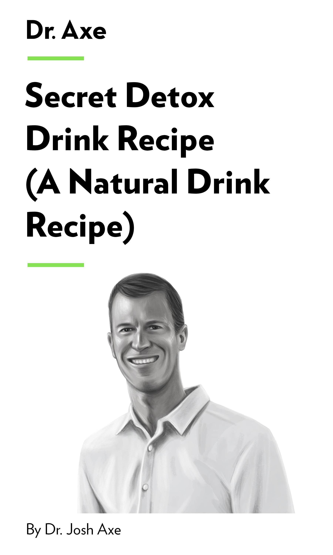 "Book Cover for ""Secret Detox Drink Recipe (A Natural Detox Drink Recipe)"""