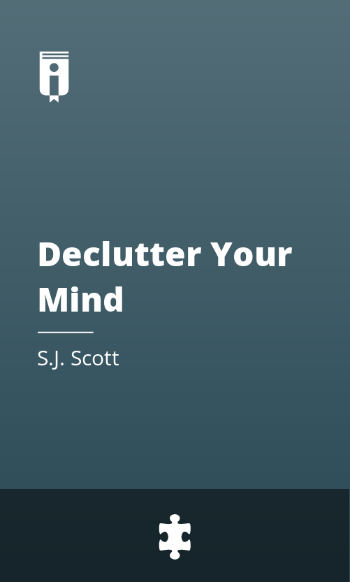 """Book Cover for """"Declutter Your Mind"""""""