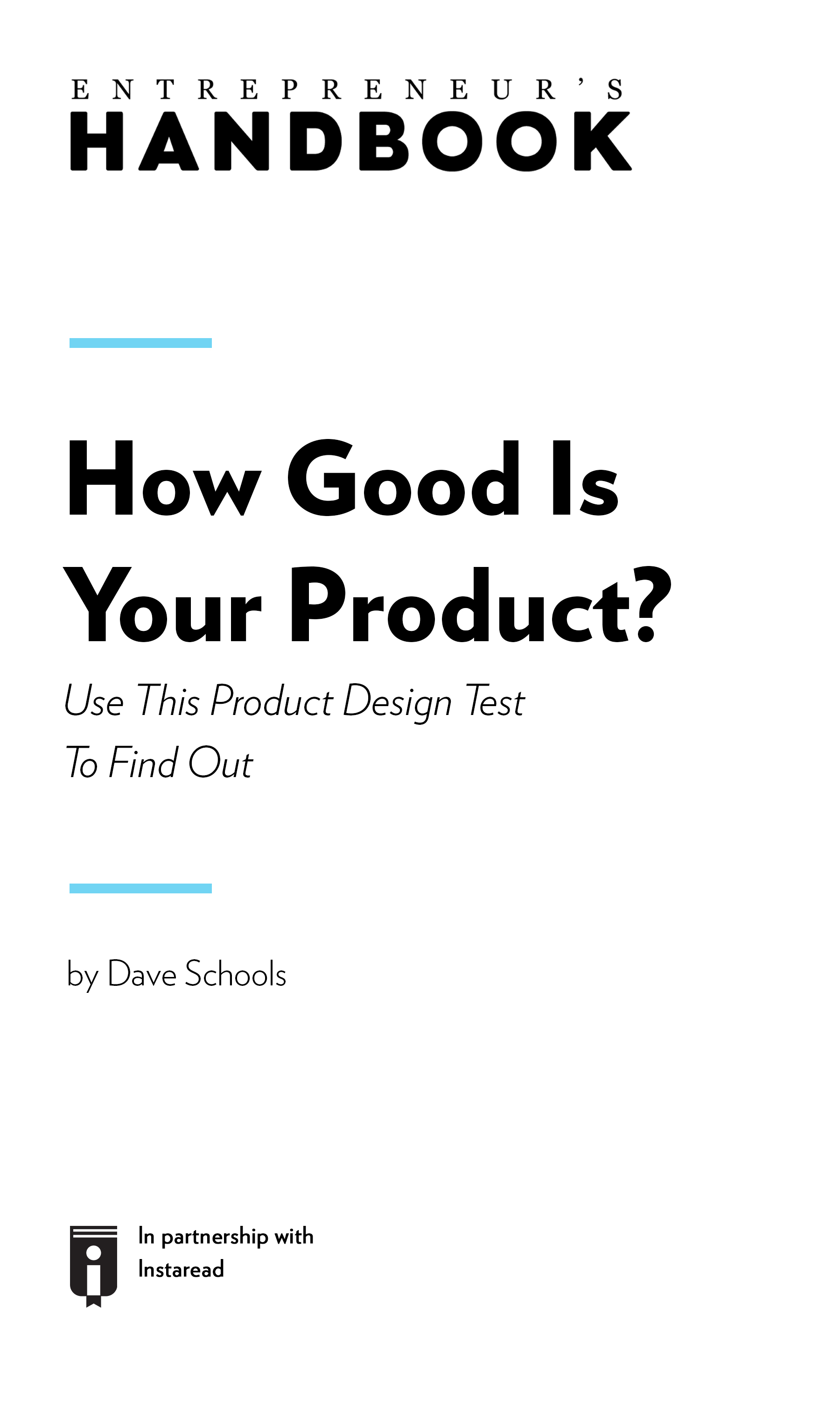"Book Cover for ""How Good Is Your Product? Use This Product Design Test To Find Out"""